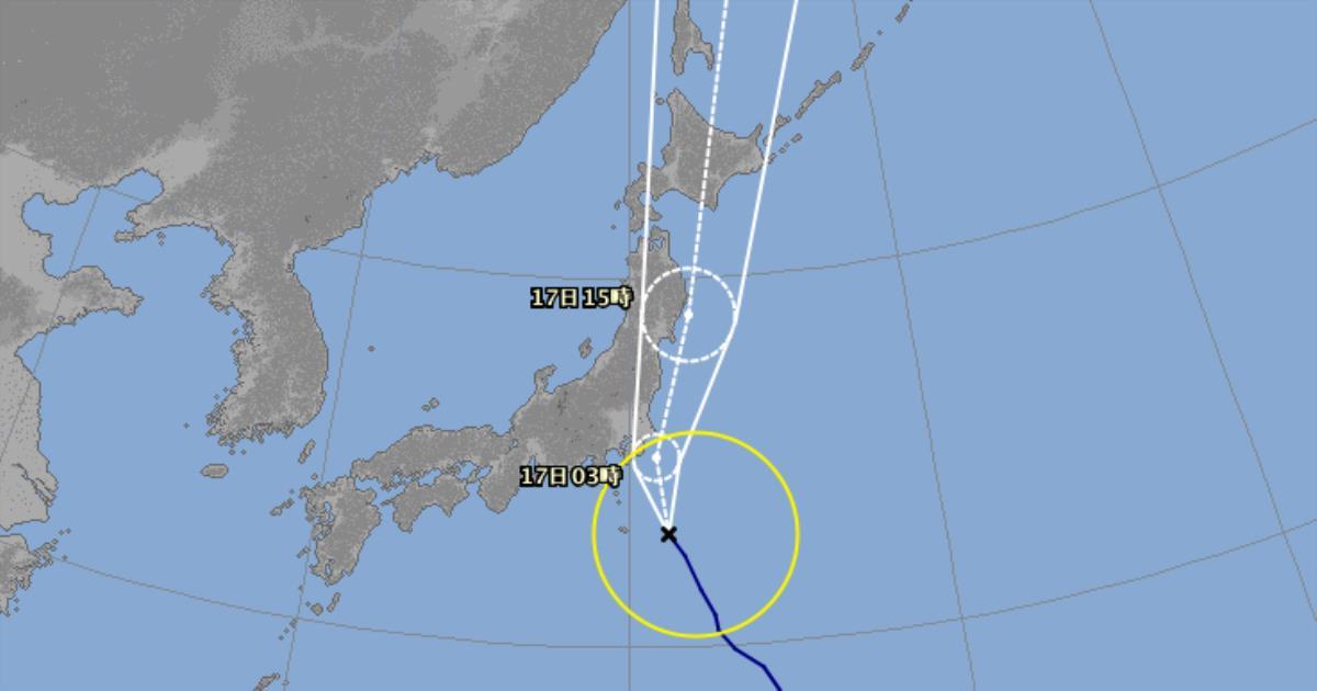 台風7号予報円